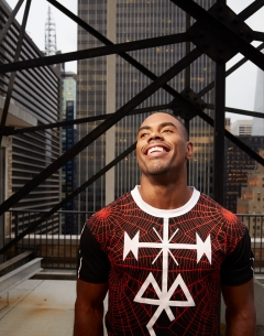 Rashad Jennings photographed at the Row Hotel in NYC on April 28, 2014